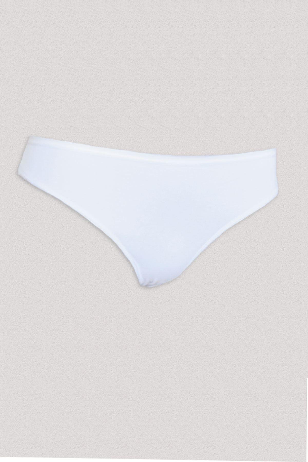 Beyaz Kadın 6 ' Lı Paket Geniş Kalıp Modal Slip 155