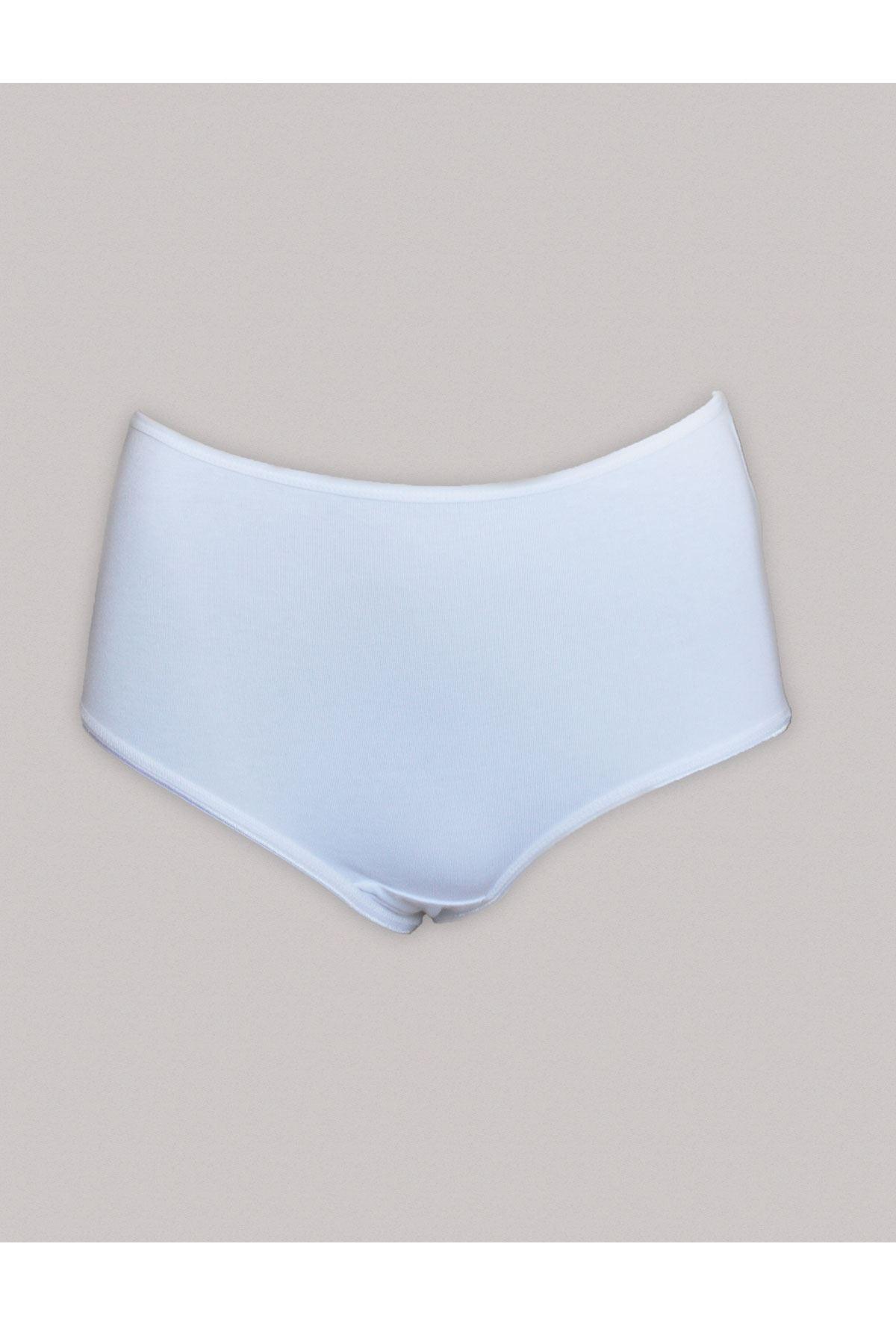 Beyaz Kadın 6 ' Lı Paket Yüksek Bel Pamuklu Slip 125