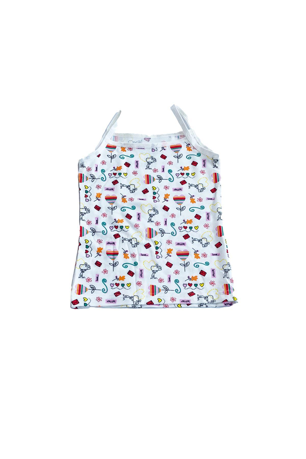 Çok Renkli Kız Çocuk Modal Ip Askılı Atlet 6 Lı Paket 331-E6