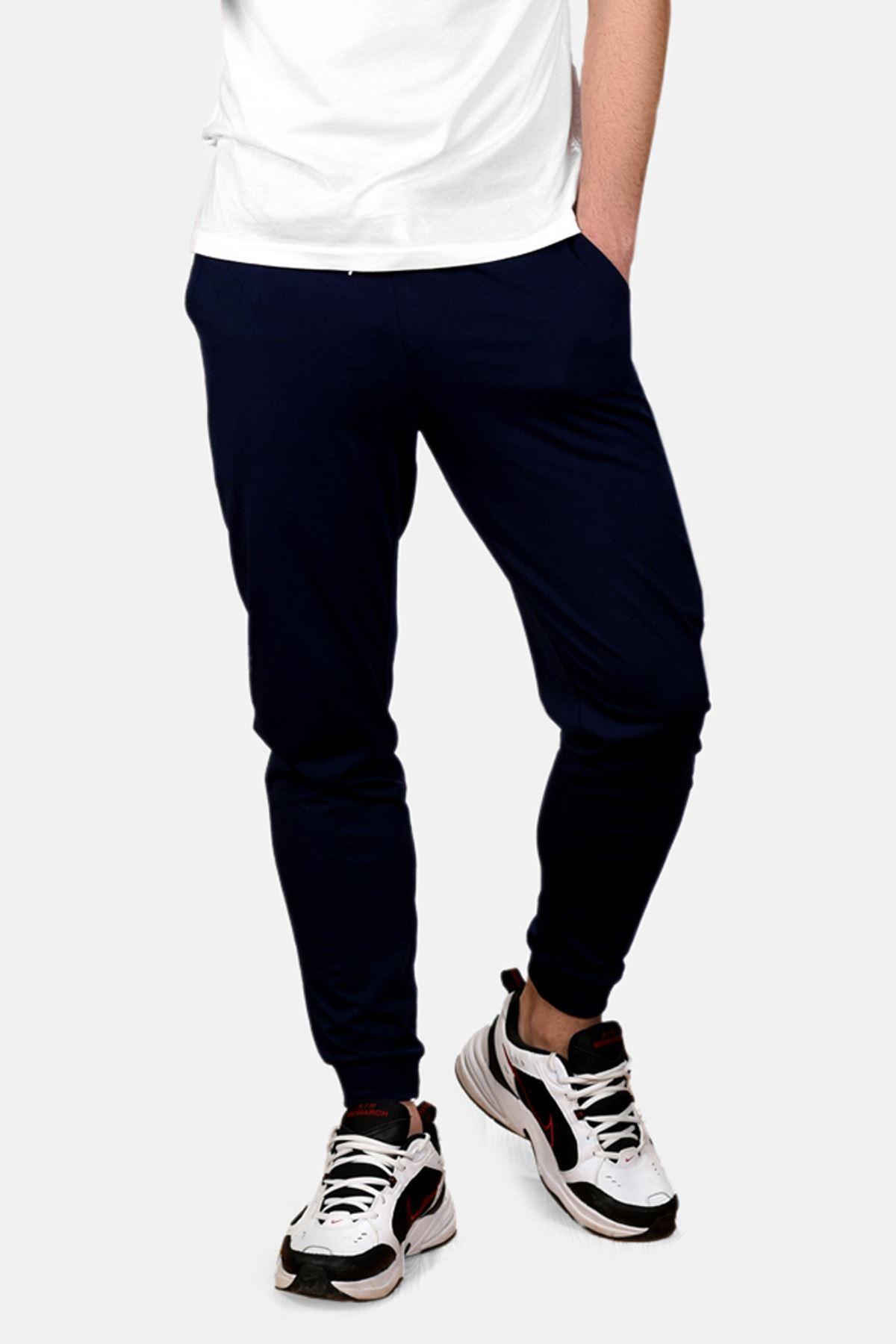 Malabadi Erkek Lacivert Alt Beyaz Üst Düğmeli Yaka Yazlık Pijama Takımı M564