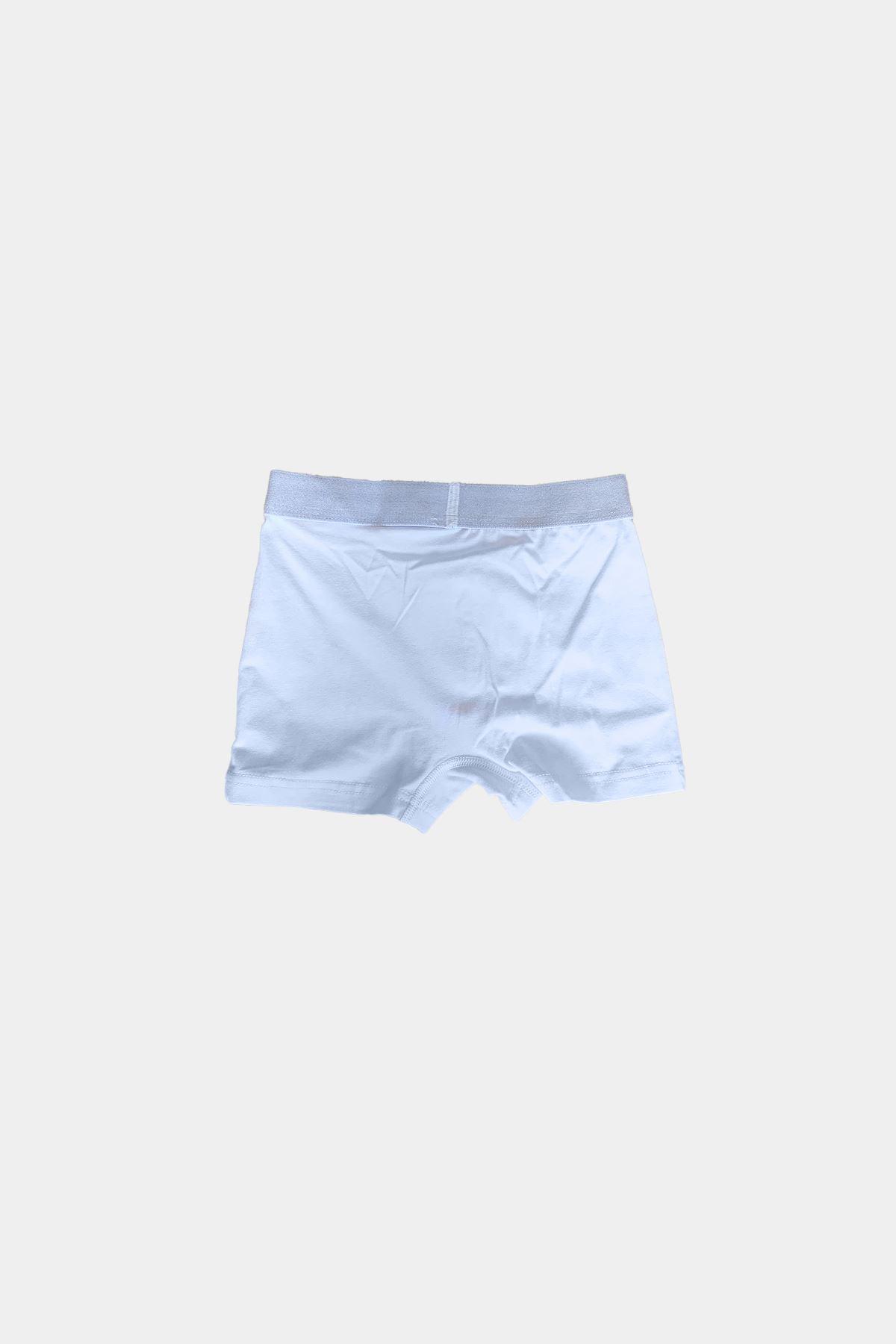 Beyaz Erkek Çocuk Pamuklu Boxer 208