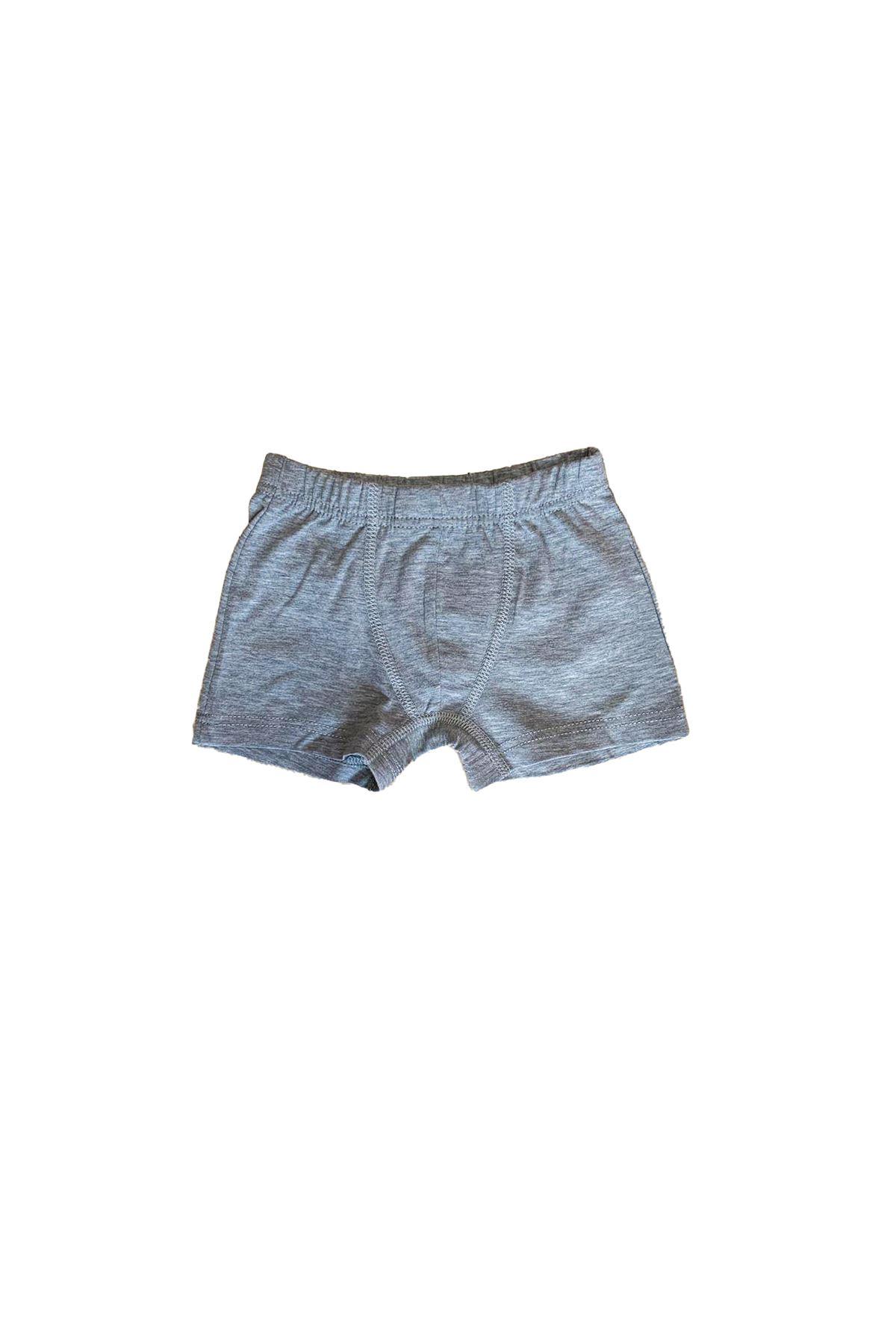 Gri Erkek Çocuk Pamuklu Boxer 209