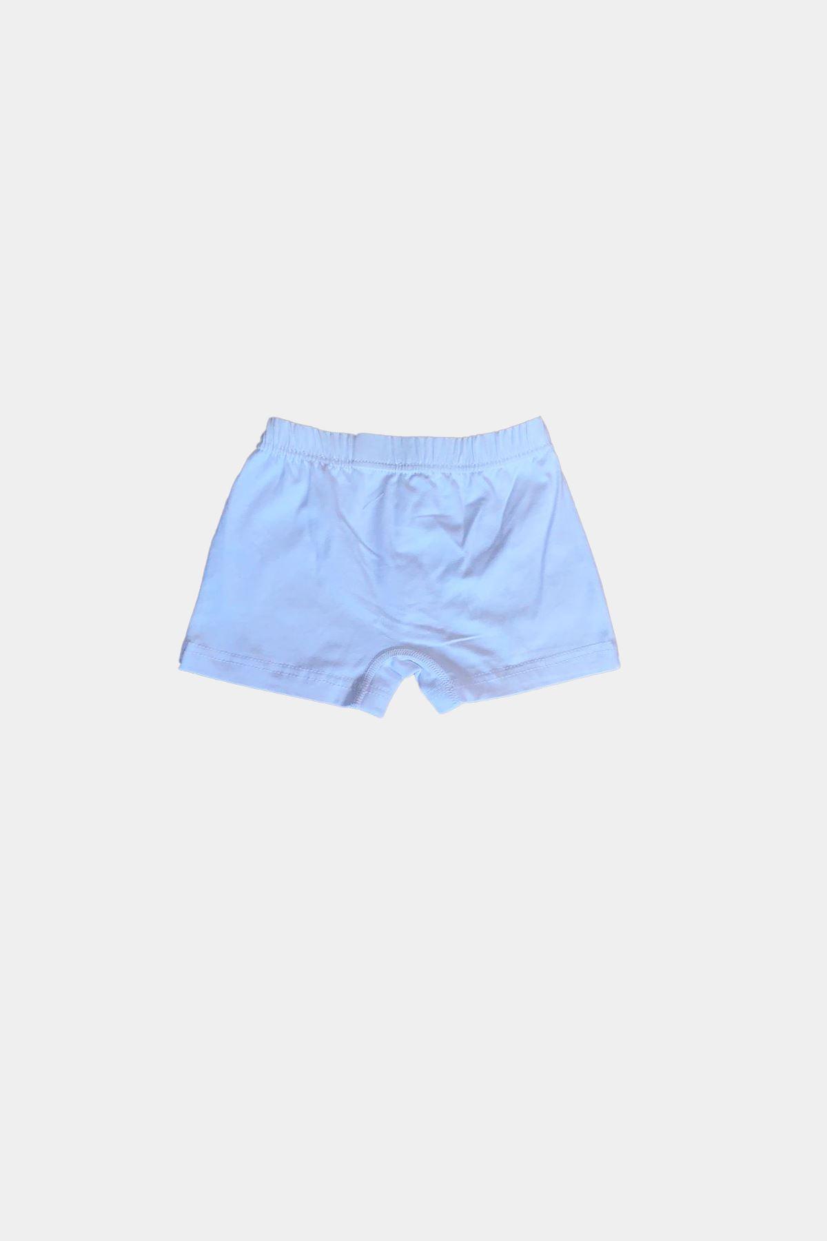 Beyaz Erkek Çocuk Pamuklu Boxer 209