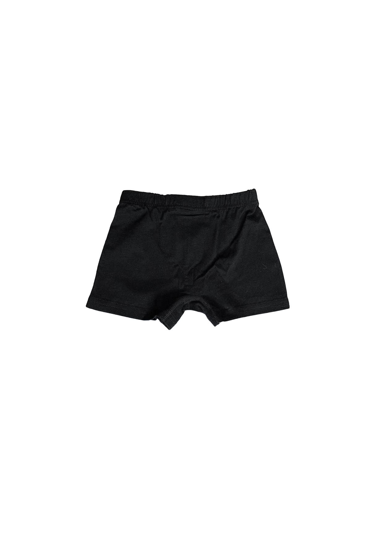 Siyah Erkek Çocuk Pamuklu Boxer 209