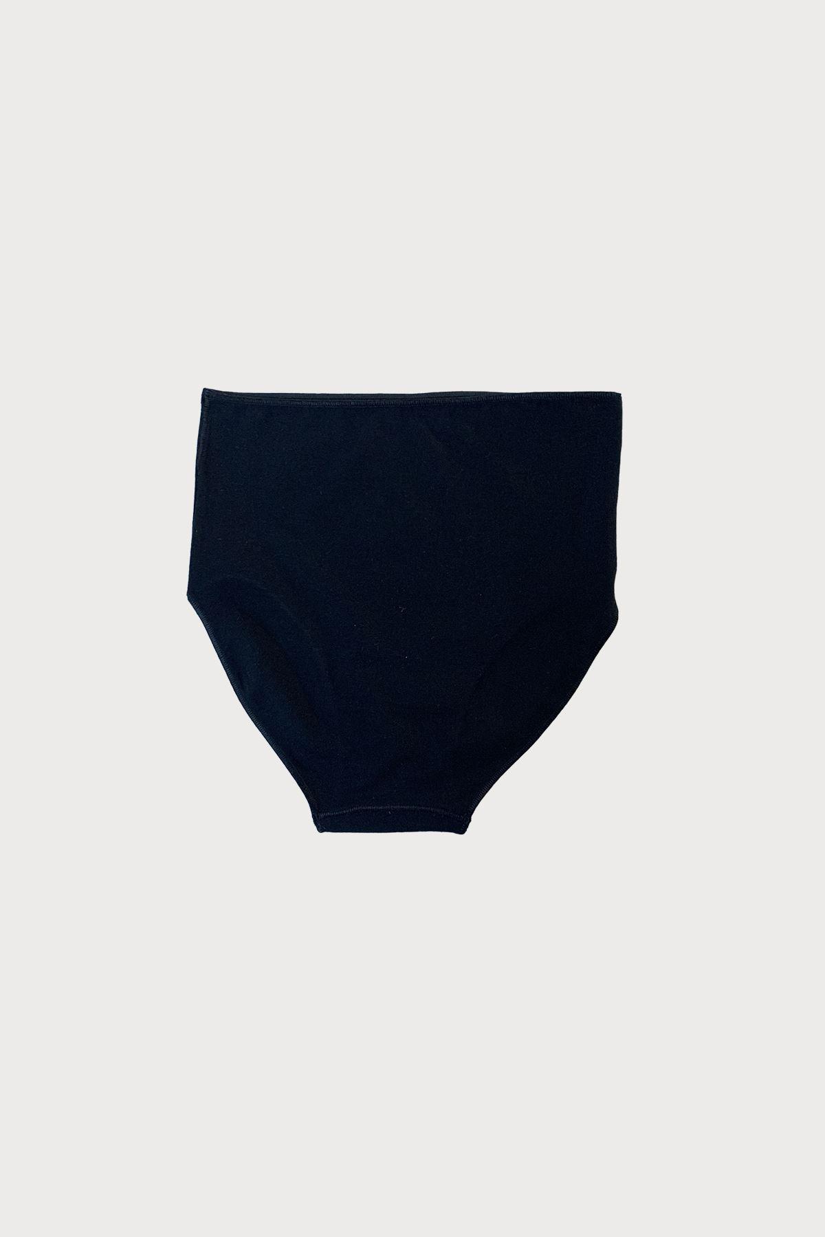 Malabadi Kadın 6 lı Paket Siyah Beyaz Ten Modal Extra Yüksek Bel Slip Külot 1955